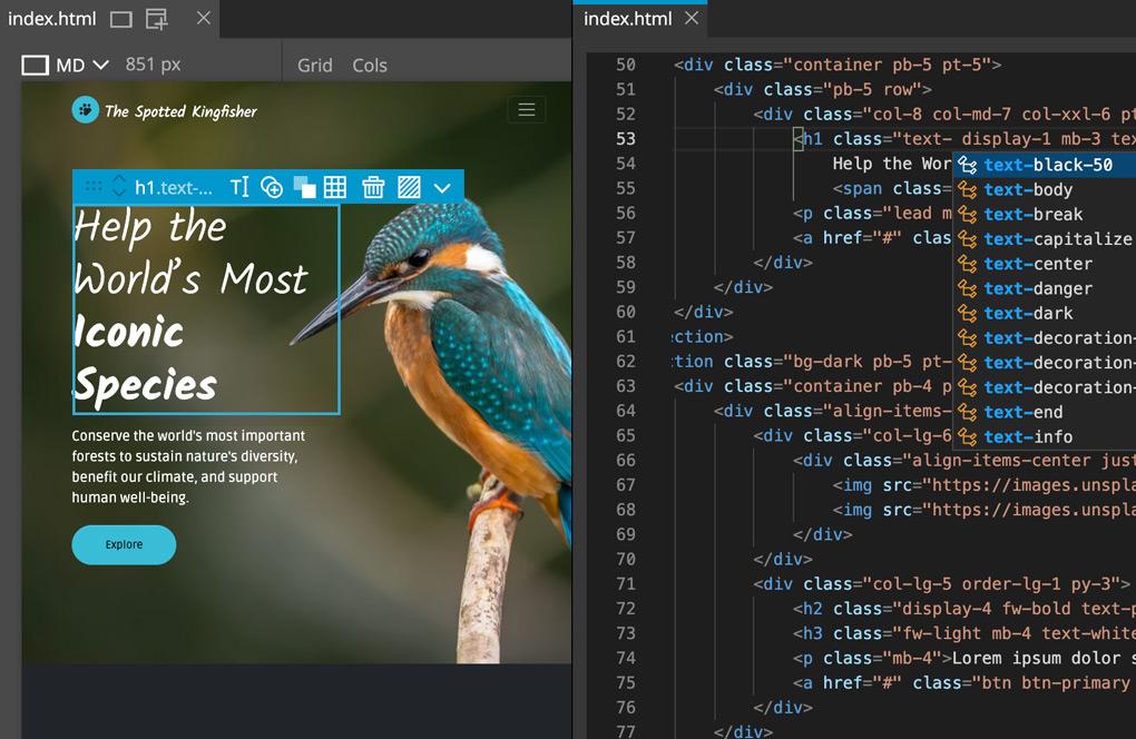 Code + Visual Tools